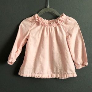 Carter's | Pink & Gold Striped Blouse 12M